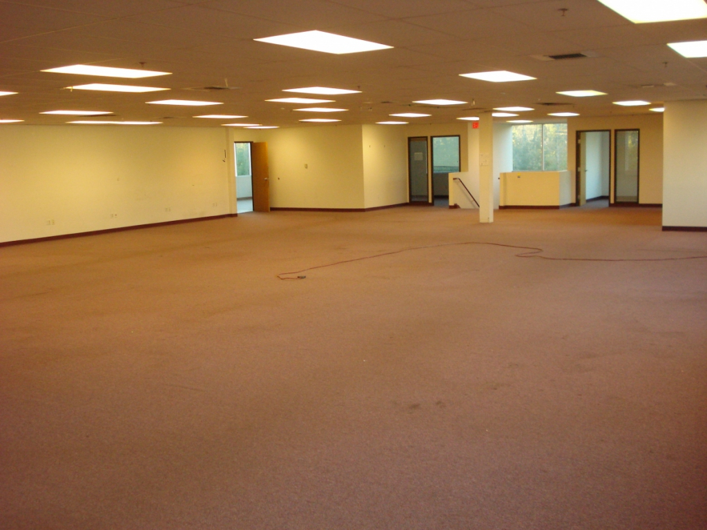 Clean large office after junk removal services